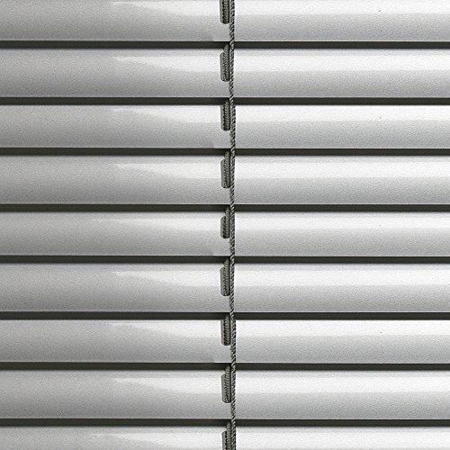 Klemmfix Alu Jalousie Silber verspannt - Breite 50 bis 90 cm - Höhe 130cm - Tür Fenster Rollo Jalousette Aluminium Fensterjalousie Lamellen Metall (60 x 130 cm)