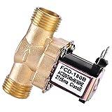 Elettrovalvola - Elettrovalvola elettrica in ottone da 1/2'normalmente chiusa per il controllo dell'acqua, CA 220 V/CC 24 V (Edition : AC 220V)