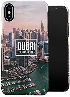 Emirates Dubai The City of Gold Tumblr Plastic Phone Snap On Back Case Cover Shell Compatible with iPhone X, iPhone Xs