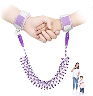 Toddler Leash Anti Lost Toddler Wrist Leash, Breathable Wristbands 1.5m/ 2m/ 2.5m 360°Rotate Night Vision Toddler Harness Safety Leashes Child Leash Purple