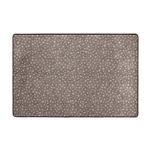 DEZIRO Fußmatte mit Papierhintergrund aus Polyester, Rutschfest, waschbar, Braun, Polyester, 1, 72 x 48 inch