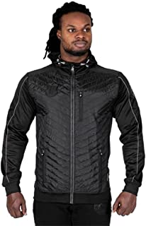 GORILLA WEAR Jefferson Front Padded Jacket - Black/Grey - XXL