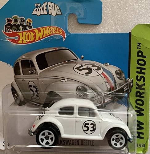 2014 Hot Wheels Hw Workshop 191/250 - Herbie The Love Bug Volkswagen Beetle - [Ships in a Box!]