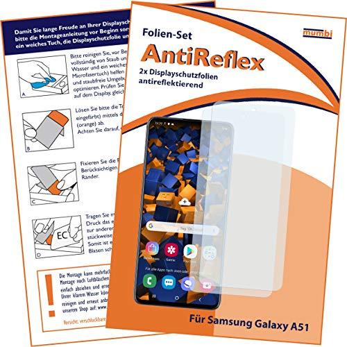 mumbi Schutzfolie kompatibel mit Samsung Galaxy A51 Folie matt, Bildschirmschutzfolie (2X)