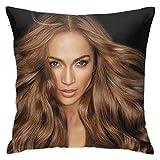 Jennifer Lopez Pillows Case Covers Decorative Square Bed Cushion Home Sofa Standard Throw Pillowcase Protectors Zipper 18'X18'