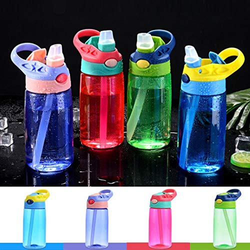 Why Choose Whatyiu 480ml Kids Water Bottle with Straw Lid and Handle, Easy Use for Girls and Boys fo...