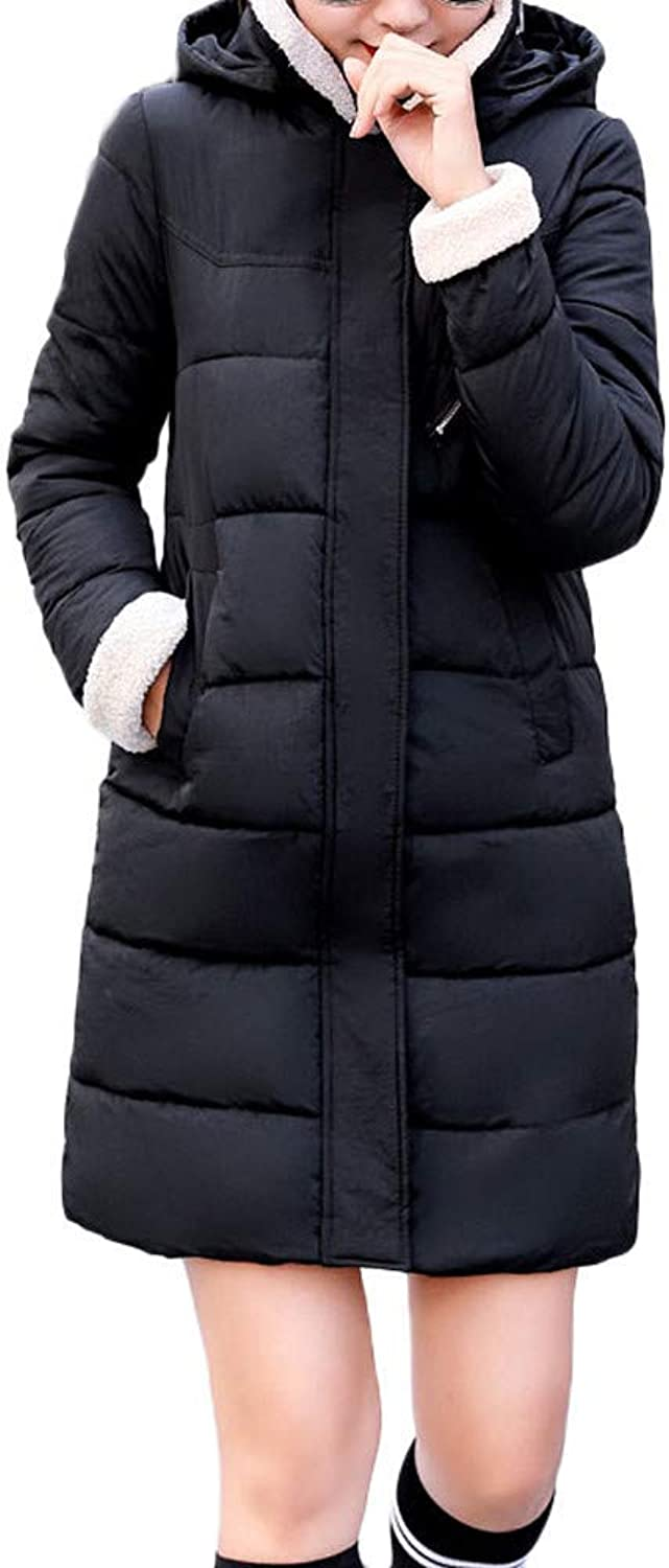 Women Winter Warm Coat Hooded Thick Warm Skinny Jacket Long Coat Fashion Cosy Wild Tight Super Quality Red Yellow Black for Womens (color   black, Size   M)