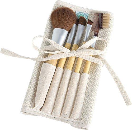 Honeybee Gardens Eco Friendly Professional Cosmetic Brush Set |...