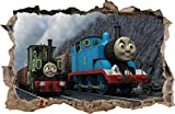 Wall Graphics Adesivi Murali Buco nel Muro Il Trenino Thomas Decorazioni murali Thomas e amici19 (S - 50 x 32 cm)