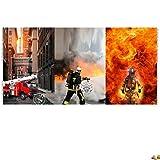Stenzo Jersey Stoffe Panel Feuerwehr 0,75m x VB