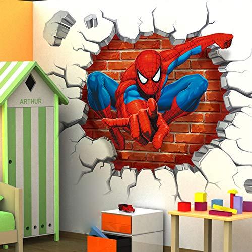 Tbagem-Yjr Simulación 3D De Pared En Tres Dimensiones Pegatinas De Los Niños Dormitorio Sala De Vinilo Decorativo De Dibujos Animados 3D Pegatinas De Pared Pintura Autoadhesiva