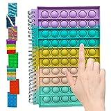 Pop It Notebook, Libretas, Cuadernos, Pop Bubble Sensory Fidget Colorful Organization Notebook, Fidget Toy Wide-Ruled Paper Composition Notebook Journal, Fidget Journal (A8)