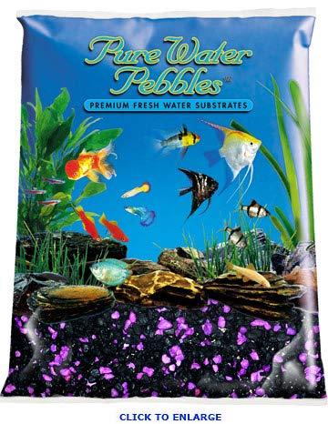 Pure Water Pebbles Nature's Ocean Aquarium Gravel BlackBerry Glo Gravel 5-lb