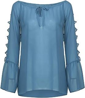 シャツTシャツレディースストラップレス包帯レースシフォン長袖大きいサイズルーズトップブラウス レディース 長袖 半袖 カットソー ロング Tシャツ パイピングデザイン タイプ
