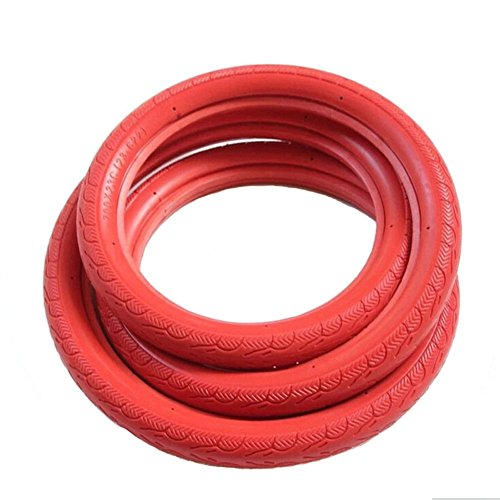 SENQI Fixed Gear Bicycle Solid Tires Road Bike Tires 700c x 23 (Red)