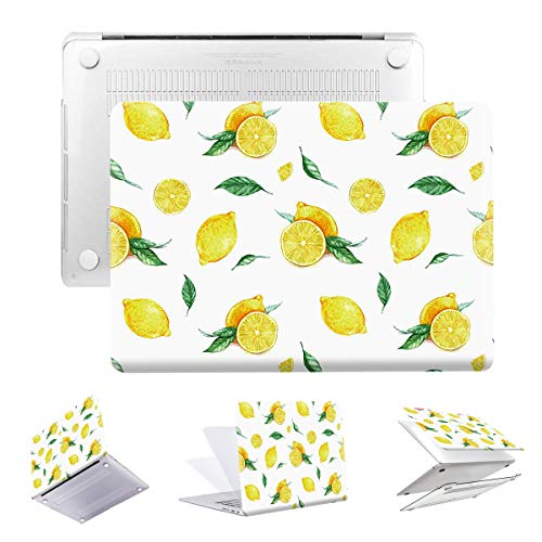 MacBook Pro 13 inch Case 2020 Release A2251 A2289 PapyHall Color Painting Plastic Hard Case for New MacBook Pro 13-in Four Thunderbolt 3 (USB-C) Ports with Touch Bar/ID A2251 A2289 DZ-Lemon