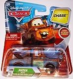 Disney / Pixar CARS Movie 155 Die Cast Car with Lenticular Eyes Series 2 GlowInTheDark Lamp Mater Chase Piece! by Mattel Toys