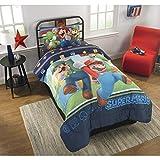 Super Mario Bros Twin Comforter & Sheet Set (4 Piece Bed In A Bag)