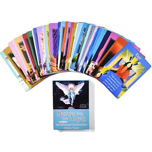 SHOH berichten van je engelen: wat je engelen je kennis wilt hebben, zakboek, engel-orake-kaart, godkaart, bordspel kaart, witsgids engelboek, 44 kaartstapels