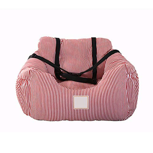 Scra AC pet backpack Car Travel Kennel Pet Car Seat Cushion Small And Medium Sized Dog Kennel Pet Supplies 55CM * 50CM * 30CM (Color : Red)