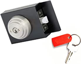Double Keyed Gate Latch Lock : Secure Automatic Locking On Both Sides : Anti-Vandal Concealed Screws : Weldable Steel Lock Box : Grade 3 Stainless Steel