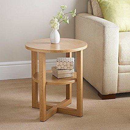 HUZAR Side Hall Table Lamp Plant Consol Tall Coffee Wine Hallway Furniture - Small Oak