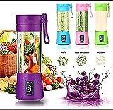 C&G INDIA Portable Electric USB Juice Maker Juicer Bottle Blender Grinder Mixer with 4 Blade Rechargeable