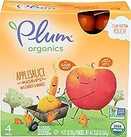 Plum Organics Organics Applesauce Mashups with Carrot Mango 4 Pouches 3 17 oz 90 g Each