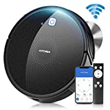APOSEN Robot Vacuum, Wi-Fi Connected Automatic Self-Charging Robotic Vacuum Cleaner, Ideal for Pet Hair, Carpets, Hard Floors,110Mins Max Run Time, Quiet Multiple Cleaning Modes, Black