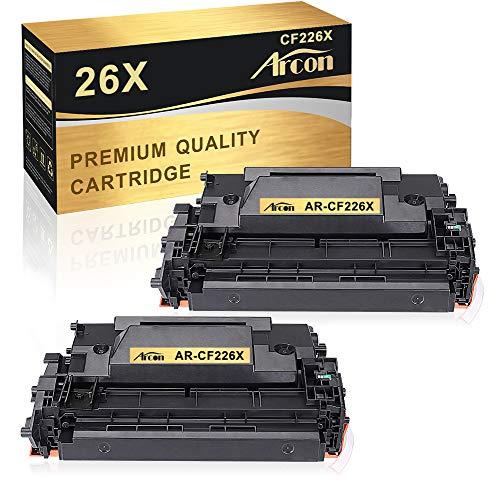Arcon Kompatibel Toner Cartridge Replacement für HP 26A CF226A 26X CF226X Toner für HP Laserjet Pro MFP M426FDW M426FDN M426DW M426 HP Laserjet Pro M402DW M402DN M402N M402D M402DNE M402 2 Packs