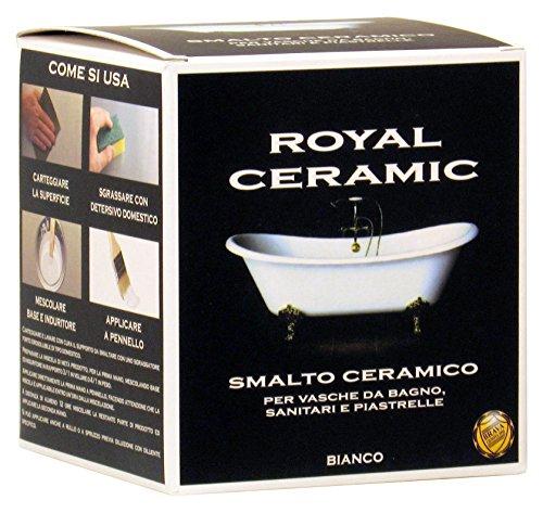 Brava RC3 Royal Ceramic Smalto per Vasche da Bagno, Bianco, 375 ml