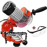 HECHT Sägeketten-Schleifgerät 9230 Kettenschärfer - einstellbarer Schleifkopf inkl. 2 Schleifscheiben + GRATIS Schutzbrille