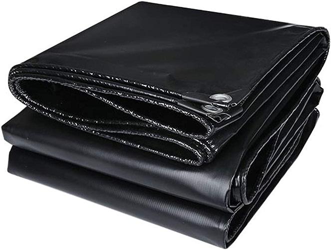 LXLA- Baches imperméables extra-robustes, bache épaissie noire avec oeillets, tente extérieure polyvalente - 500g   m2 (taille   3m x 3m)
