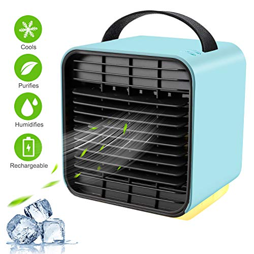 Portable Air Conditioner Fan, TOCOOL Personal Space Air Cooler Desk Fan Mini Evaporative Cooler...