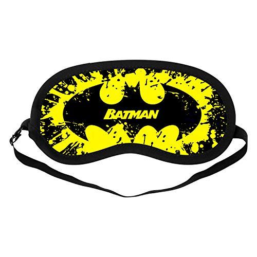 Silk Sleep Mask, Comfortable and Soft Eye Mask with Adjustable Head Strap, Blindfold Eyeshade for Kids Women Men (Spider Man)-Batman