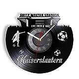Reloj De Pared De Vinilo,City Landmark of Kaiserslautern Vinyl Record Wall Clock For Sports Room Germany Football Stadiun Art Decoration Retro Wall Clock-2