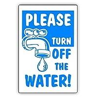 警告サインは、水をオフにしてくださいアースユーティリティ通知標識道路標識