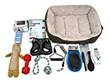 BH Investors Puppy Starter Kit, Dog Supplies Assortments Gift Set for Dog, Includes: Dog Toys/Dog Bed/Dog Grooming Set/Puppy Training Supplies/Dog Leashes & Accessories