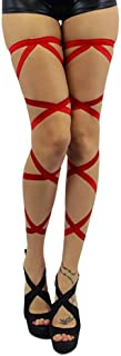 iHeartRaves Leg Wraps for Raves, Dancing, Music Festivals - Pair of Non-Slip Garter Set with Ribbons