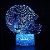 Creative Mode Cool Abstrait Dessin Animé Forme Spéciale Sport 3D LED Bureau Lampe de Table Veilleuse Acrylique Chambre Décoration Enfants Cadeau Rugby hockey sur glace hockey Casque de Football