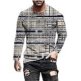 2021 Camiseta Hombre Manga Larga Moda Casual T-shirt Blusas camisas 3D Impresión Camiseta originales Cuello redondo hombre suave básica Verano otoño camiseta deportiva Top