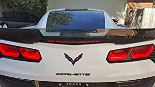 C7 Corvette Stingray/Z06/Grand Sport Third Brake Light Blackout Decal - Lighted Script Gloss Black Supercharged Script