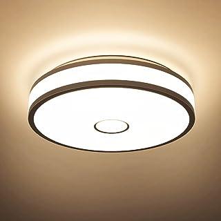 Onforu 18W LED Lámpara de Techo, 1600LM Plafón LED de Techo Redondo, 2700K Blanco Cálido Luz Interior de Techo Moderna, IP65 Impermeable para Baño, Dormitorio, Cocina, Comedor, Habitación, Balcón