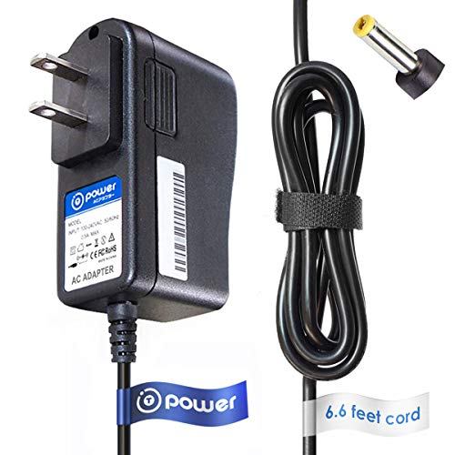 T-Power 6.6ft AC Adapter Compatible with Philips SPF3470 SPF3470T,G7 10FF2CMI,27 10FF2XLE,27 10FFCMW Digital Photo Frame 6V Philips AVENT DECT SCD501 SCD501,00 Baby Monitor power supply cord wall plug