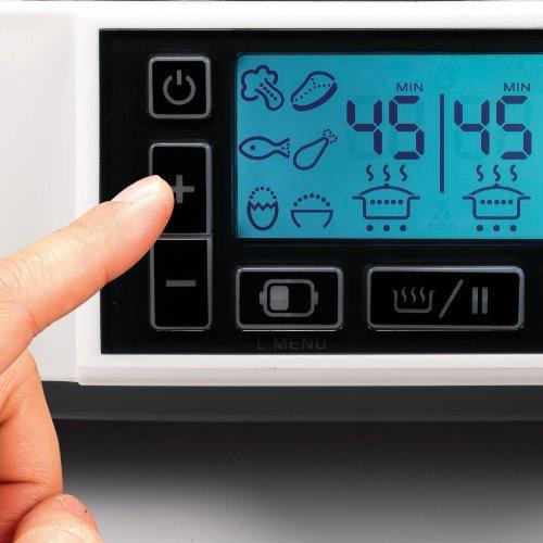 Morphy Richards Intellisteam Compact Food Steamer 6L Digital Display White Electric Food Steamer