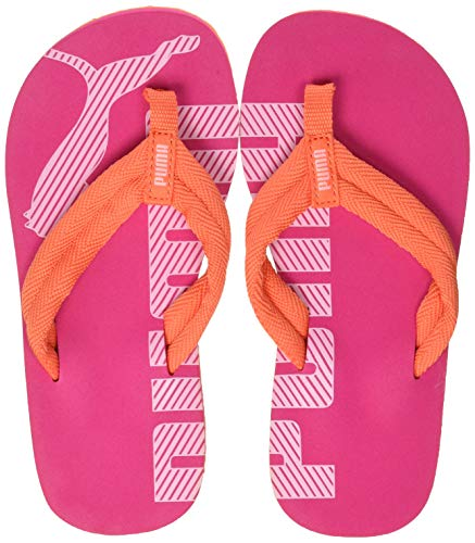 Puma Unisex-Kinder Epic Flip v2 PS Zehentrenner Orange (Nasturtium-Fuchsia Purple) , 33 EU