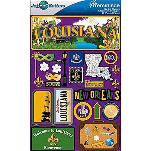 Reminisce Jet Setters 2 3-Dimensional Sticker, Louisiana