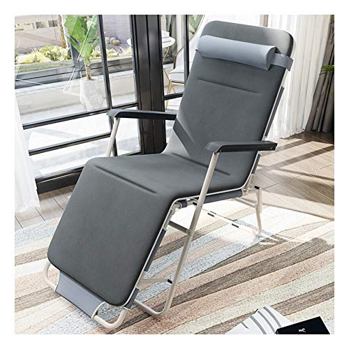 NQO Outdoor Garten Klapp Liegestuhl Sun Lounger Stuhl, tragbare Einzelbett Outdoor Strandkorb Klapp Mittagspause Liege Siesta Bett-Round Tube