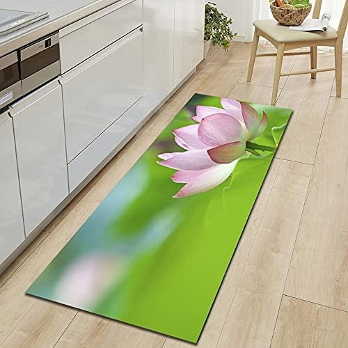Alfombra de la puerta de entrada de la sala de estar del dormitorio del hogar, alfombrilla de la puerta de la cocina minimalista moderna, alfombrilla absorbente antideslizante para el baño A8 60x180cm