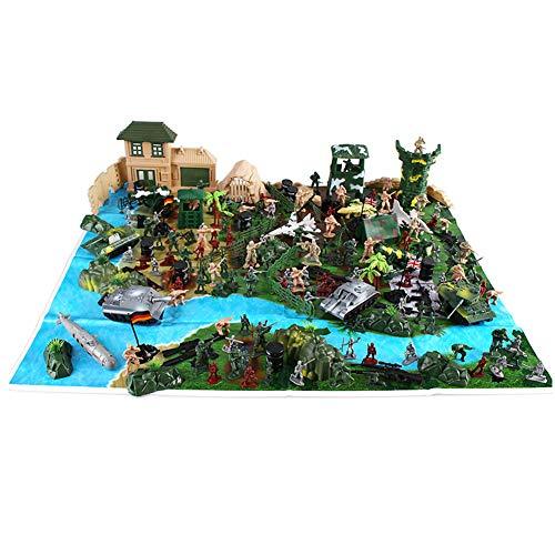 XHXseller 100 130 200 300 pz tavolo da sabbia esercito giocattolo militare gioco di gioco con giocattolo soldati guerra militare statuine set soldatini